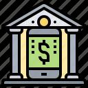 banking, digital, mobile, online, transfer icon