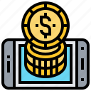 cryptography, currency, digital, exchange, trade icon