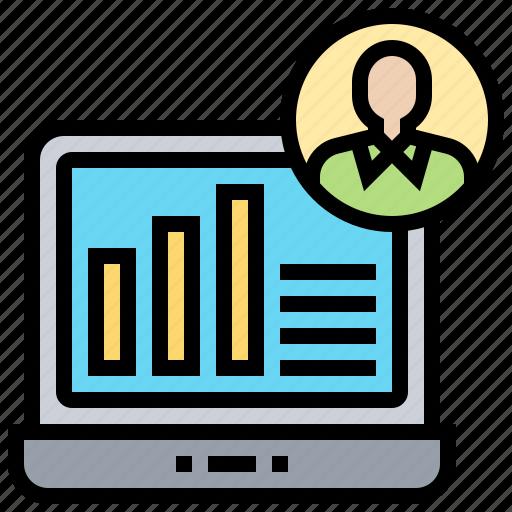 analysis, chart, demographic, infographic, report icon