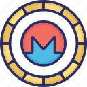 monero, alternative currency, cryptocurrency, digital currency icon