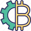 digital currency, cryptocurrency, bitcoin, alternative currency icon