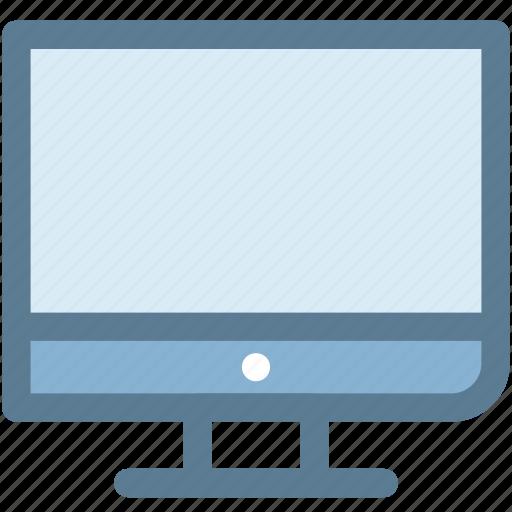 computer monitor, desktop monitor, monitor, screen, server icon
