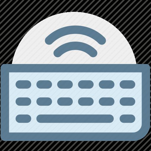 computer keyboard, hardware, keyboard, keypad, type, typing, wireless keyboard icon