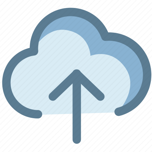 arrow up, cloud, cloud upload, data, storage icon