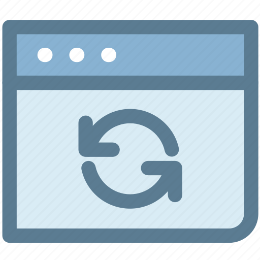 initializing, refresh, refresh page, synchronization, web page icon