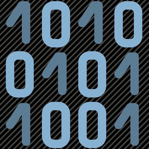 binary, bits, code, digital icon