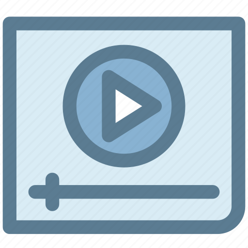 clip, movie, player, video, video player, youtube icon
