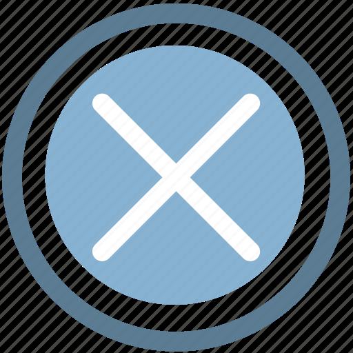 close, close button, close page, closed, remove icon