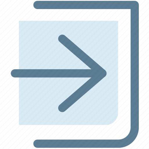 arrow, inside, log in, move, next, up icon