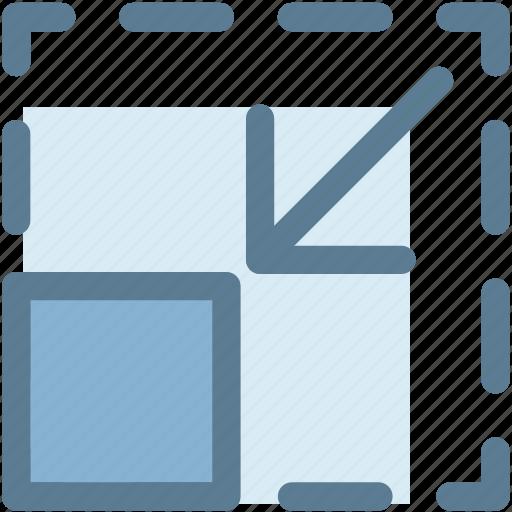 control, exit fullscreen, minimize, reduce, size icon