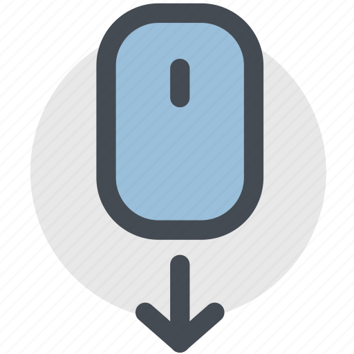 design, mouse, mouse down, mouse scroll down, page, scroll, web icon
