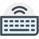 computer keyboard, hardware, input, keyboard, type, typing, wireless keyboard icon