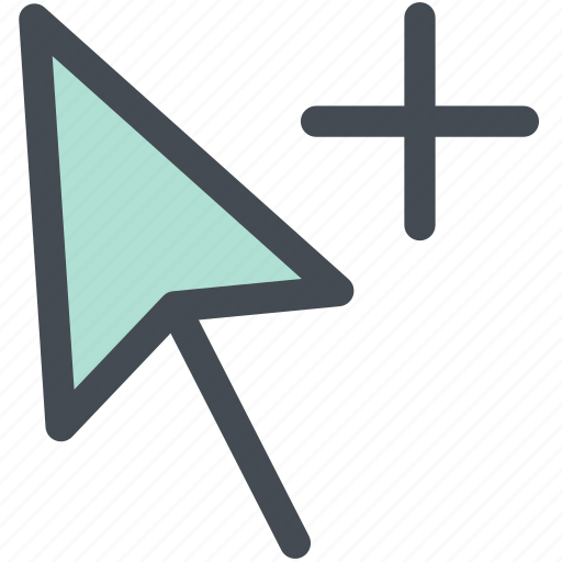 arrow cursor, click, cursor, mouse, mouse cursor, plus, web icon