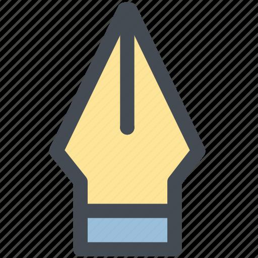 design, dip pen, fountain pen, ink pen, nib, pen, web icon