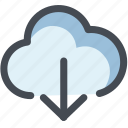 arrow up, cloud, cloud download, data, device, storage, web icon