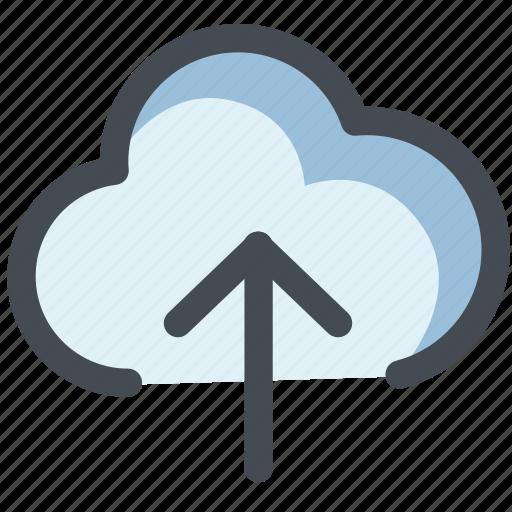 arrow up, cloud, cloud upload, data, device, storage, web icon