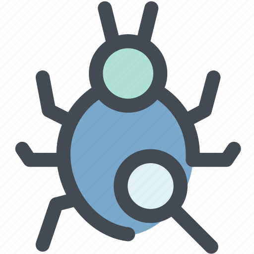 antivirus, bug, find, search, virus, virus scan, web icon
