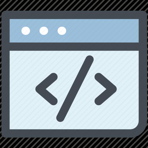 code, coding, device, html, inspect, web, web code icon