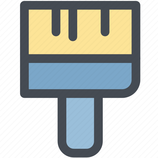 brush, color, coloring, paint, paint brush, painting icon