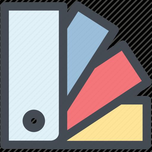 art, color fan, colors, design, pantone, swatches icon