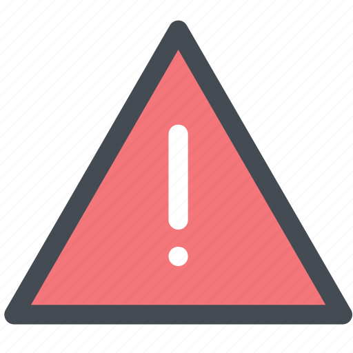 alert, caution, design, digital, reminder, triangle, warning icon