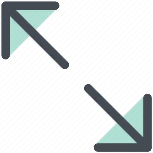 arrow, enlarge, expand, outside, size, zoom in icon