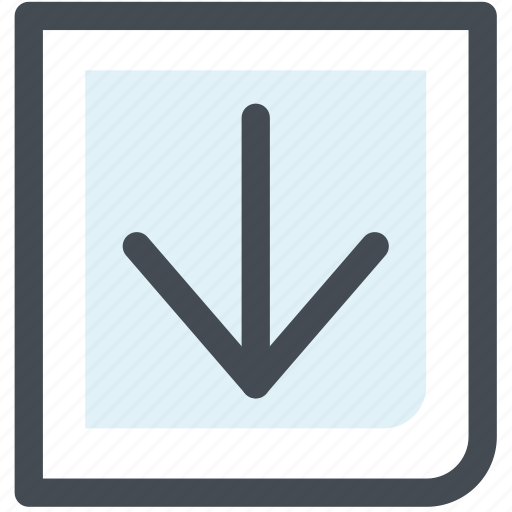 arrow, down, download, next, point icon