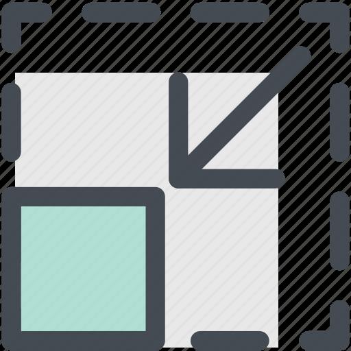 control, design, exit fullscreen, minimize, reduce, size, web icon