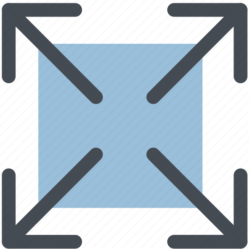 arrow, bigger, enlarge, expand, full screen, size, web icon
