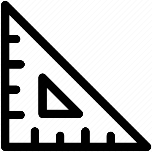 angle, maths, ruler, ruler triangle, set square, triangle icon