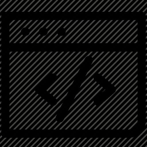 Code, coding, html, inspect, web code icon