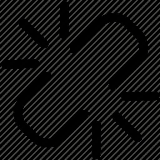 break, chain, disconnect, snap, unlink icon