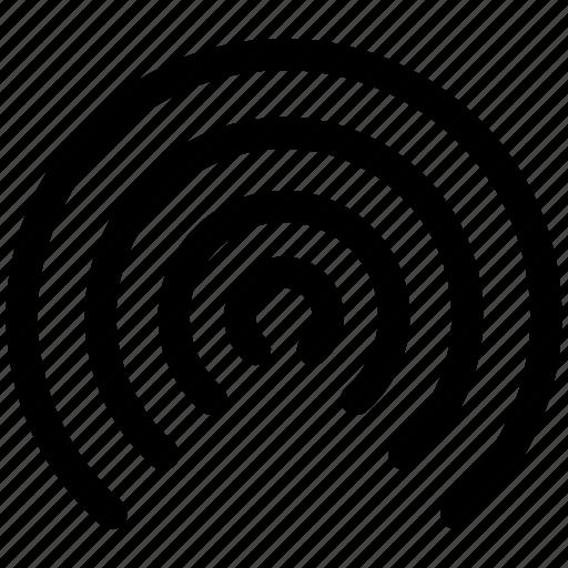 airdrop, appleios, signal, technology, wireless icon
