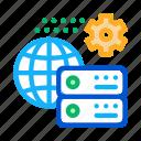 digital, economy, commerce, idea, global, settings, business icon