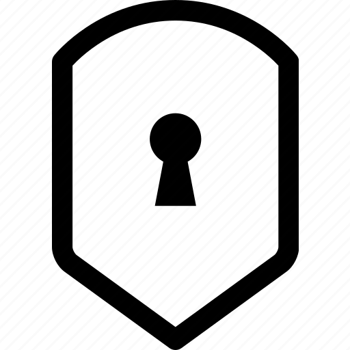 access, key, locked, protection, security, shield icon