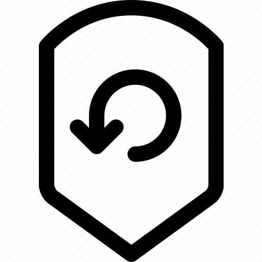 protection, reconnect, repeat, return, security, shield icon
