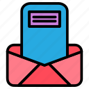 email, inbox, message icon