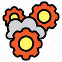 cloud, cloud settings, configuration, gear, settings icon