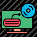computer, monitoring, report icon