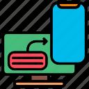 computer, mobile, monitoring, report icon