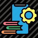 book, books, concept, education, mobile, study icon