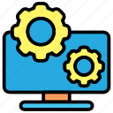 cog, configuration, gear, settings icon