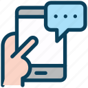 digital, marketing, mobile, message, communication, chat