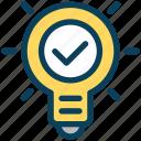 digital, marketing, bulb, idea, light, approve