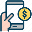 digital, marketing, mobile, money, dollar, payment