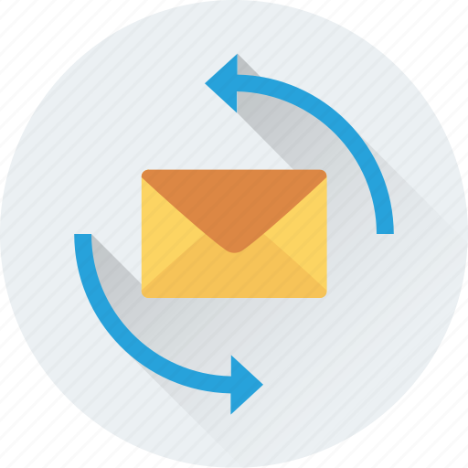 email, email processing, refresh, sending, sync icon