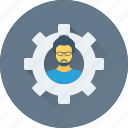 avatar, cog, configure, control, manager icon
