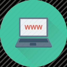 domain, laptop, web, website, www icon