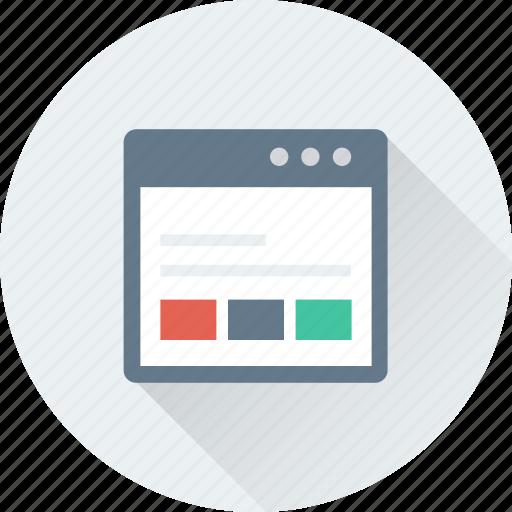 web design, web layout, web template, webpage, wireframe icon
