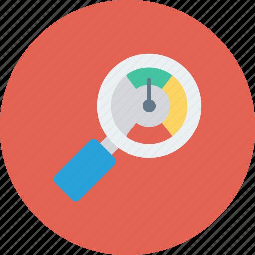 analyzer, magnifier, optimization, performance, seo icon